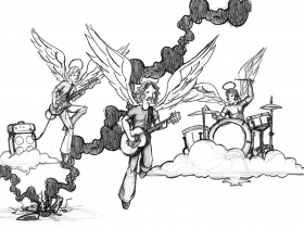Death of a Rock Band illustration for RIFT magazine