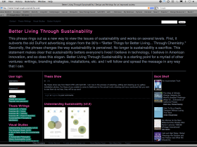 Homepage view of http://www.betterlivingthroughsustainability.com/